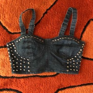 Tops - Denim Bustier